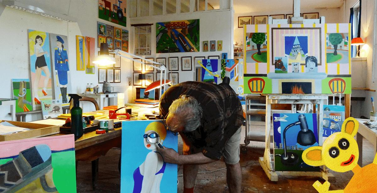 2016 Ausstellung BILDER AUS DER WELT DER BILDER 05.10. Hamburg. Fett6. Foto: Sebiturbo. Gestaltung: Sabine Hartung.